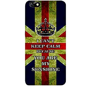 Skin4gadgets I CAN'T KEEP CALM BECAUSE YOU ARE MY SUNSHINE - Colour - UK Flag Phone Skin for HUAWEI HONOR 4X (ONLY BACK)