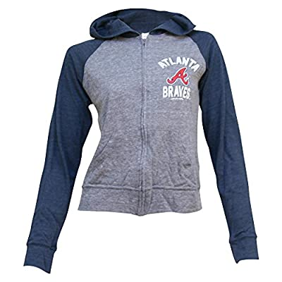 Women's MLB Team Logo Full Zip T-Shirt Hoodie