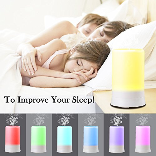 DLAND-100ML-7-Colors-Electric-Aromatherapy-Essential-oil-Diffuser-With-4-Timers-Cool-Mist-Humidifier-with-Colorful-LED-light-and-Auto-off-Whisper-Quiet-Cool-Mist-Humidifier-Enjoy-Aromatherapy-Experien