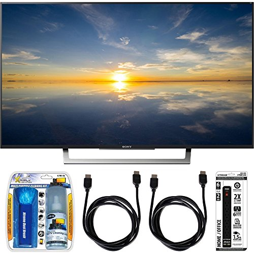 Sony-XBR-43X800D-43-Class-4K-HDR-Ultra-HD-TV-w-Essential-Accessory-Bundle-includes-TV-Screen-Cleaning-Kit-6-Outlet-Power-Strip-with-Dual-USB-Ports-and-2-HDMI-Cables