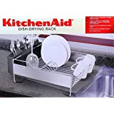 "KitchenAid Dish Drying Rack Stainless Steel Space-Saving Compact Design Size: 13""x14"" New Advanced Corrosion Resistant Technology (Black)"