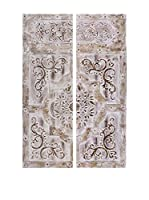 COLONIAL STYLE Set Panel Decorativo 2 Uds.