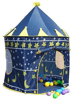 Angela123 Kids Children Indoor/outdoor Blue Star Sky Play Backpack Tent Yurt Princess Castle Game House