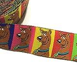 チロリアンテープ ジャガードリボン (22mm巾 x 450cm) Scooby Doo 犬柄 キャラクター