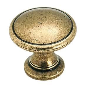 Amerock BP1466R1 Hint of Heritage Round Knob, 1-1/4-Inch, Regency Brass
