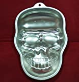 DIY Skull Pattern Aluminium Cake Cookie Mould Pan Non-Stick Halloween Birthday Party Fondant Baking Mold Cake Bakeware Tool [ 1 pc ]