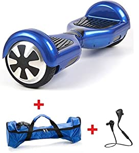 Hover Boost, Airboard Scooter, Hoverboard Two wheels Smart Self Balancing Scooters,Drifting Board with LED Light, Free + Carring Bag + Bluetooth Hands Free Headsset W826 (Blue)