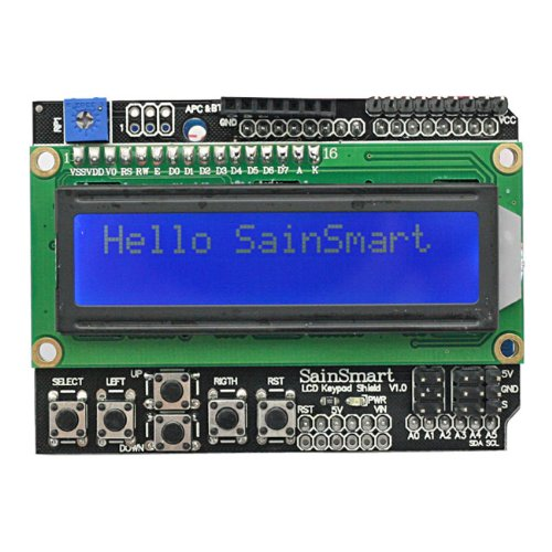 SainSmart 1602 LCD Keypad Shield V3 + UNO/UNO R3/Mega2560/Mega2560 R3/Leonardo R3(optional) for Arduino