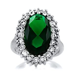 zinnia s faux emerald cocktail ring jewelry