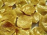 300 QUALITY GOLD METALLIC SILK ROSE P...