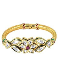 Exclusive Gold Plated Kundan Made Bangles/Bracelet For Women Traditional Jewelry