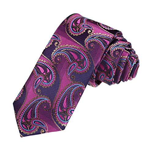 DAE7B07-09-Whole-Sale-For-Father-Microfiber-Patterned-Skinny-Tie-By-Dan-Smith