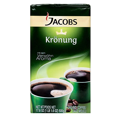 Jacobs Kroenung Aroma-Bohnen (Kroenung Whole Bean Coffee), 17.6-Ounce Vacuum Packs (Pack of 4) (Jacobs Coffee Whole Bean compare prices)