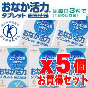 明治 おなか活力タブレット 3粒×48