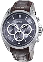 Hugo Boss - 1513035 - Montre Homme - Quartz - Chronographe - Bracelet Cuir Marron