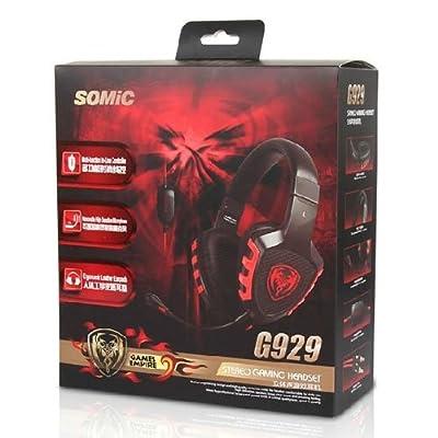 Somic G929 3.5mm Jack Stereo Gaming Headphone Computer Headset w/ Microphone - Black
