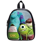 Generic Custom Disney Cartoon Monsters University Printed Black School Bag Backpack Fit Short Trip PU Leather Small