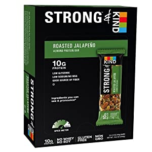 STRONG & KIND Almond Protein Bars Roasted Jalapeno - 12 CT