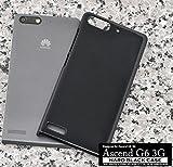 PLATA ※ アウトレット 商品 Huawei ファーウェイ Ascend アセンド G6 3G 用 ハード ケース カバー 【 ブラック 黒 くろ black 】