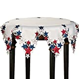 Collections Etc Americana Stars Patriotic Round Table Topper