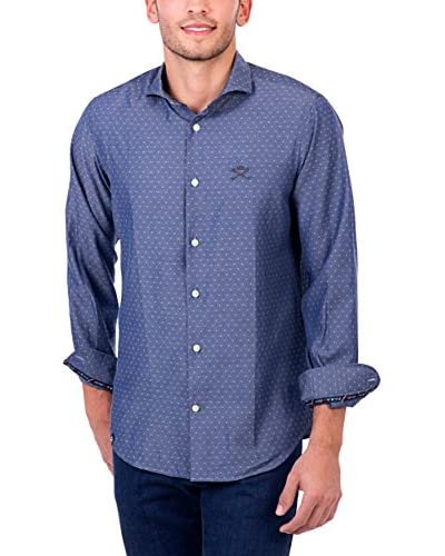 POLO CLUB Camisa Hombre Maverick Academy Slim Azul