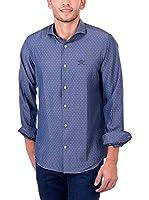 POLO CLUB Camisa Hombre Maverick Academy Slim (Azul)