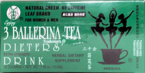 3 Ballerina Tea Dieters Drink -18 Tea Bags