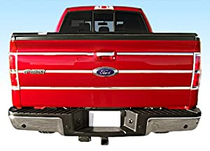 "09-2014 Ford F150 Pickup Tailgate Insert Chrome Stainless Steel Trim Molding Moulding 1"" Wide 6PC"