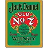 Nostalgic Jack Daniels Tin Sign : Green Label , 13x16