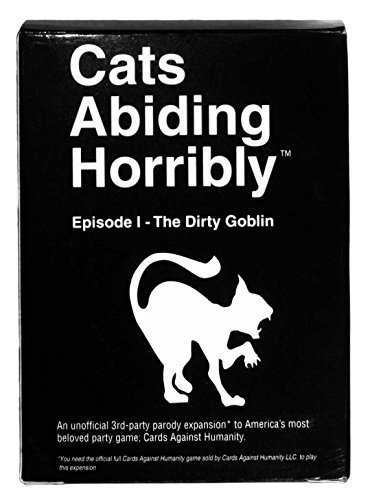 149 Brand NEW Cards For Horrible People, an Unofficial Inhumane Expansion for CAH, Cats Abiding Horribly Episode I - The Dirty Goblin