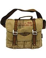 Military Vintage Canvas Messenger Bag Army Messenger Heavy Weight Bag - Larger Version