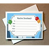 Birthday Invitation and Thank You Card Set (20 Invites and Thank You Cards)