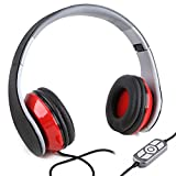 Black&Red USB Wired Headphone Headset with Microphone MIC for PC Laptop notebook SkypeMSNYahoo Gaming