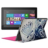 Aquarius® Superior Luxury Fine Touch Latest Trendy Designer Back PU Leather Soft Skin Cover Sticker for Microsoft Surface RT (Black)
