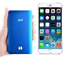 Key Power® External Battery Charger 8,000mah Portable Power Bank Pack for Iphone 6, 6 plus, 5s, 5c, 5 (Lightning Cable Not Included), 4s, 4, Ipad Air, Ipad 4, 3, 2, Mini 2, Mini, Ipods; Samsung Galaxy S4, S3, S2, Note 3 Note 2; Nexus 7, Nexus 5, Nexus 4; HTC One, Evo, Thunderbolt, Incredible - [Color: Metallic Blue - Slim]
