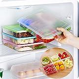Home Kitchen Refrigerator Partition Organizers Food Storage Container Box Bins (Pink)