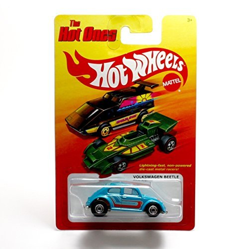 VOLKSWAGEN BEETLE (BLUE) * The Hot Ones * 2011 Release of the 80's Classic Series - 1:64 Scale Throw Back HOT WHEELS Die-Cast Vehicle - 1