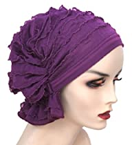 The Abbey Cap in Ruffle Purple