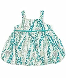 Felicity Collection Organdy Sleeveless Bubble Top (Teal,12-18M)