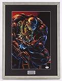 """Stan Lee Signed """"Venom"""" 17.25x23.25 Custom Framed Print (PSA COA)"""
