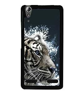 printtech White Tiger Face Back Case Cover for Lenovo A6000 Plus