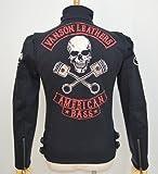 (バンソン) VANSON レディース シングル ライダース ジャケット ピストンスカル 裏毛 刺繍 ABV-304 ブラック色 メンズサイズXS