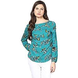 Harpa Women's Body Blouse Shirt (GR2703-Green_Medium)