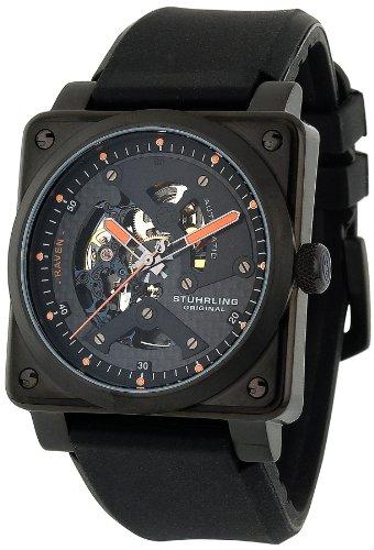 Stuhrling Original Men's 179A.335612 Leisure Raven Diablo Automatic Skeleton Black/Black Watch