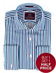 Sartorial Pure Cotton Bengal Striped Shirt