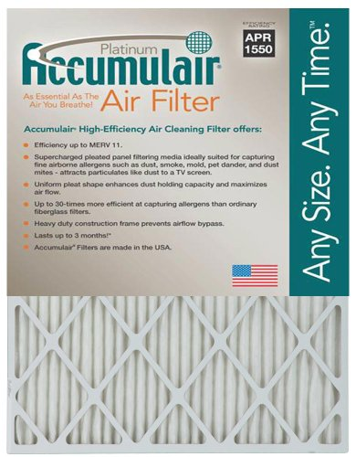 16x25x4 (15.5x24.5x3.75) MERV 11 Aftermarket Accumulair Replacement Filter