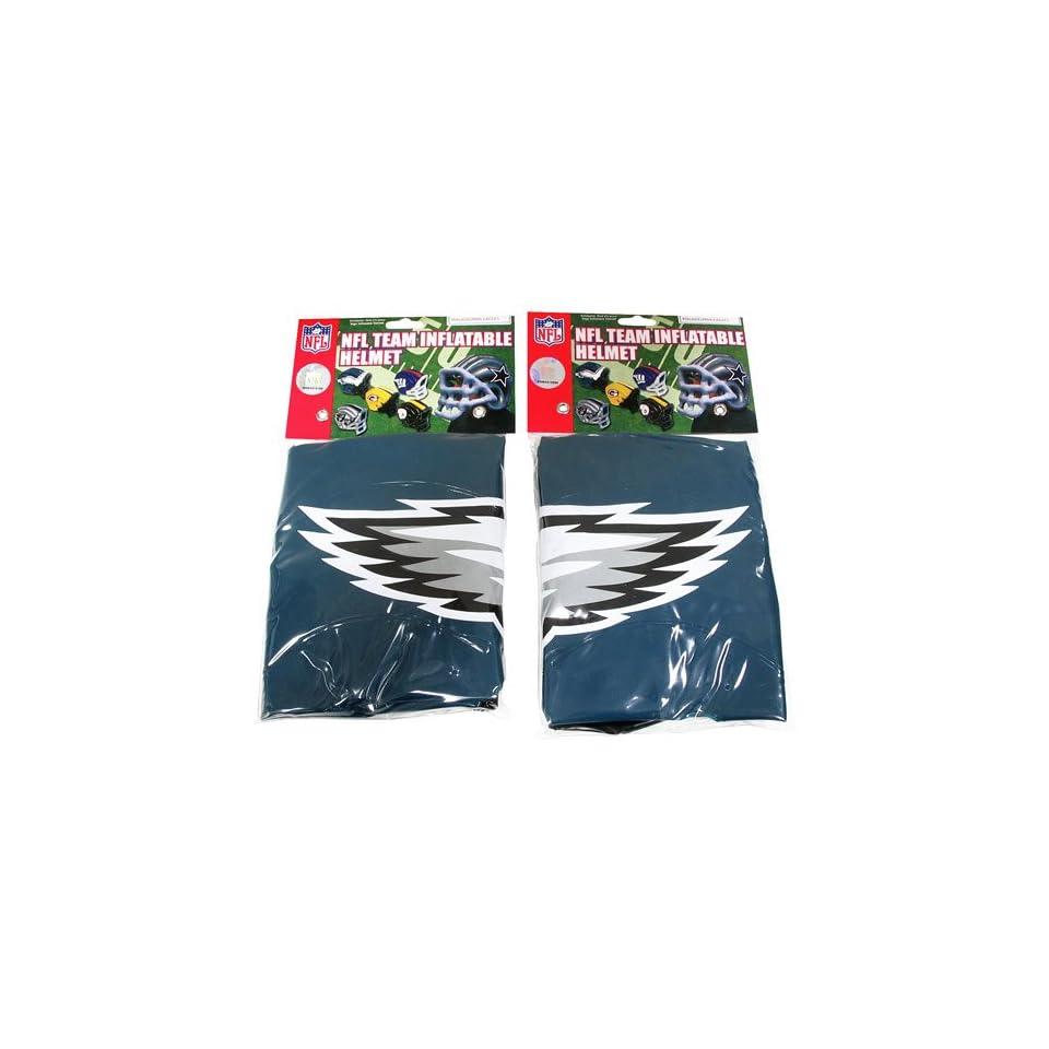 Pro Specialties Philadelphia Eagles Team Logo Inflatable Helmets (2 Pack)   Philadelphia Eagles One Size