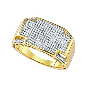 0.57CTW DIAMOND MICRO PAVE MENS RING Amazon.com