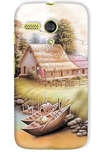 IndiaRangDe Hard Back Cover FOR Motorola Moto G