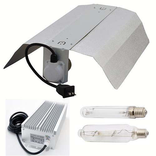 LEDwholesalers GYO2004 4-Piece 600 Watt Hydroponic Reflector Grow Light Set